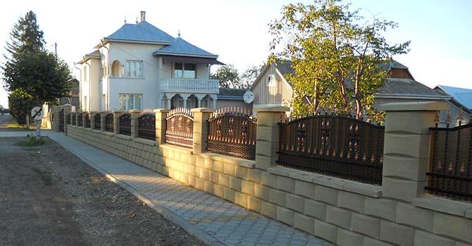 garduri prefabricate modele garduri zidite